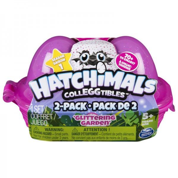 Hatchimals: лоточек с двумя коллекционными фигурками в яйцах (в ассорт