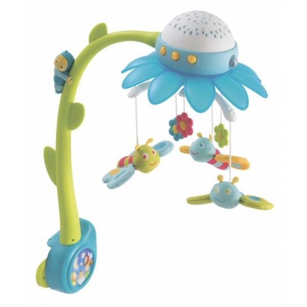 Музыкальный мобиль-проектор Cotoons Цветок с пультом управления голубой 110111