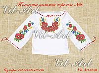 Пошитая заготовка сорочки под вышивку для девочки