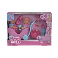 Кукольный набор Пупсы Мини NBB Близнецы с коляской и аксессуарами 5032367
