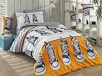 Комплект постельного белья  Hobby поплин размер полуторный Layla желтый