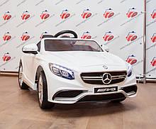 Детский электромобиль Mercedes AMG S63 кожаное сидение, белый, фото 2