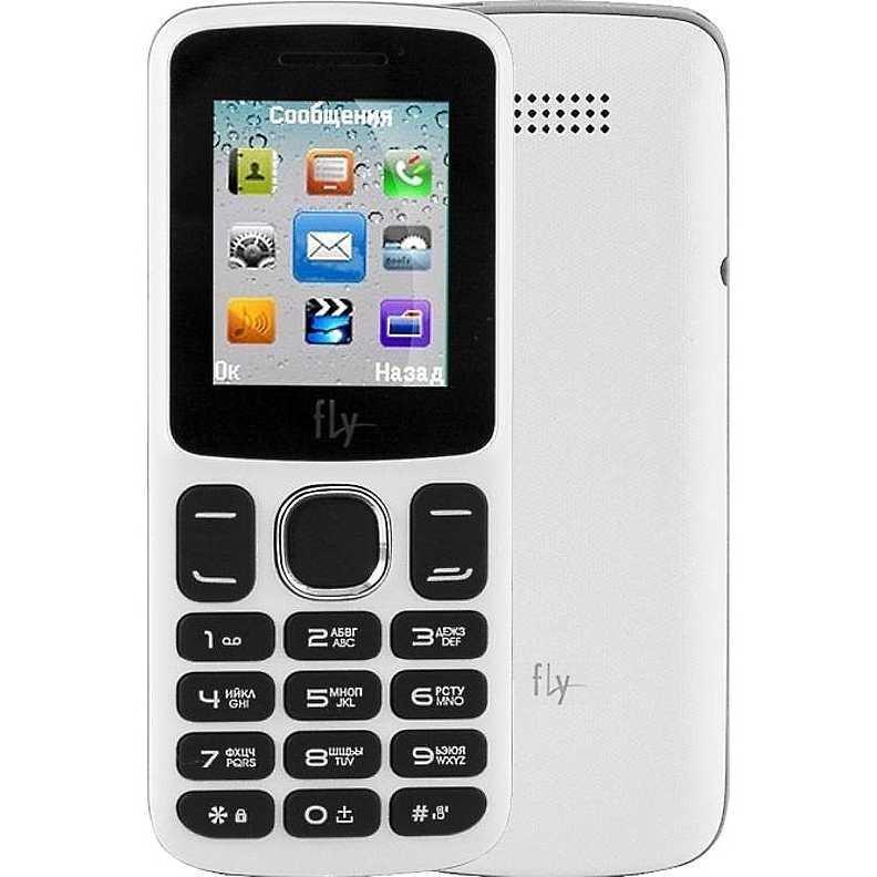 Телефон кнопочный Fly FF179 на 2 сим белый