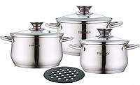 Набор кухонной посуды из нержавеющей стали 7 предметов Bohmann BH-0113
