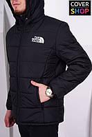 Куртка The North Face, цвет - черный, материал - полиестер, утеплитель - холофайбер, подкладка - флис