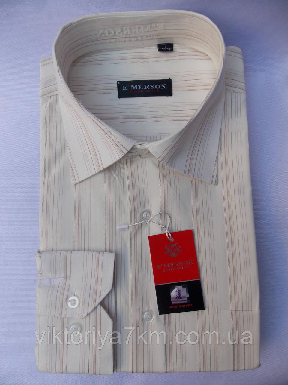 """Рубашка мужская длинный рукав классика """"Merson"""" RS2-1725"""