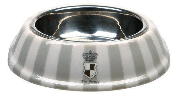 Trixiе (Трикси) My Prince 0,25л/17см - миска металлическая для собак (сталь + меламин)