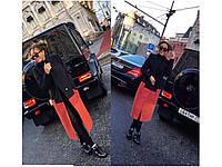 Пальто женское черно красное