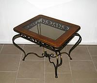 Стол кованый прямоугольный журнальный, фото 1