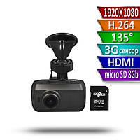 Gazer F121g автомобильный видеорегистратор  Full HD с картой памяти в комплекте