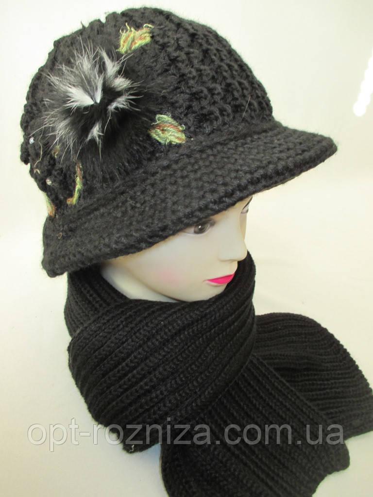 Комплекты  шляпка и шарф женские
