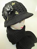 Комплекты  шляпка и шарф женские, фото 1