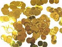 """Конфетти """"кружочки"""" фольгированные, золото 250 г, фото 1"""