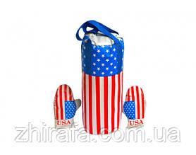 """Детский боксёрский набор Danko Toys """"Америка"""" (боксерская груша и перчатки)."""