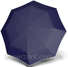 Шикарный женский зонт, полуавтомат Doppler 730165LA-3, система антиветер, синий с голубым