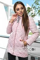 Стильная удлиненная курточка с брошью