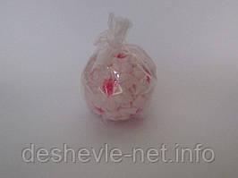 Свеча декоративная, круглая, розовая.