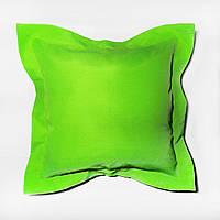 Подушка декоративная 40х40см. Зеленое яблоко декор.