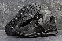 Кроссовки мужские Adidas EQT Зимние. Замша Мех 100% Черные