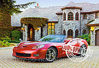 Картина по номерам на холсте KH1043 Красный кабриолет (40 х 50 см) Идейка, фото 1