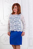 Платье со сьемным блузоном из гипюра