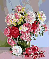 Картина раскраска по номерам VP117 Натюрморт с пионами худ Кольба, Сергей (40 х 50 см) Турбо
