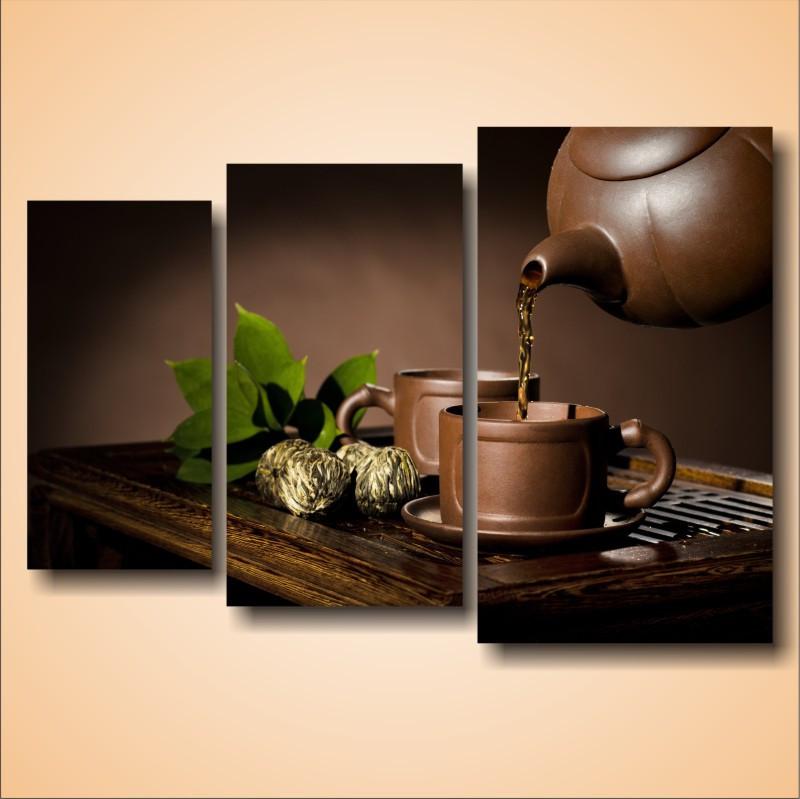 """Модульная картина """"Крепкий чай"""""""