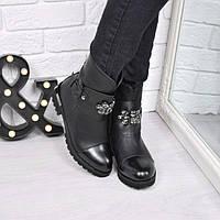 Ботинки женские Sendy черные ЗИМА 3769, ботинки женские