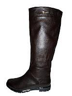 Женские сапоги темно-коричневого цвета