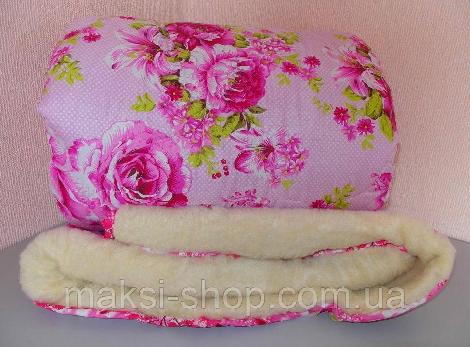 Одеяло полуторное мех овчины , ткань полиэстер