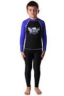 Компрессионный рашгард и штаны Berserk ММА детские LEGACY black, фото 1
