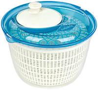 Сушка-карусель Bager для зелени и овощей механическая центрифуга, голубая
