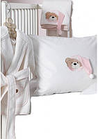 Набор в ванную комнату для младенцев Karaca Home Bear розовый