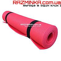 Коврик для йоги, фитнеса 5мм розовый
