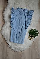 Блуза под джинс с рюшами Denim Co