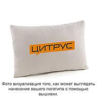 Подушка прямоугольная светло серый флок с лого Цитрус