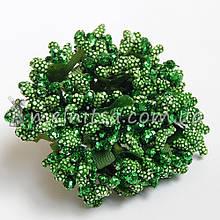 Сложные тычинки с крупным блеском, зеленый