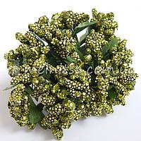 Сложные тычинки с крупным блеском, оливковый