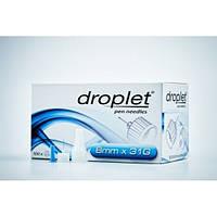 Иглы для шприц-ручек Droplet (Дроплет) 8 mm 31G (0,25 мм) №100
