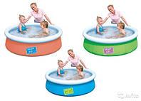 Бассейн семейный, круглый, детский, 3 цвета, 152-38см