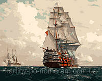 Картина раскраска по номерам VP256 Корабль в море худ Димер, Михаэль Цено (40 х 50 см) Турбо