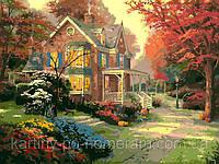 Картина раскраска по номерам VP154 Осенние краски худ Кинкейд, Томас (40 х 50 см) Турбо