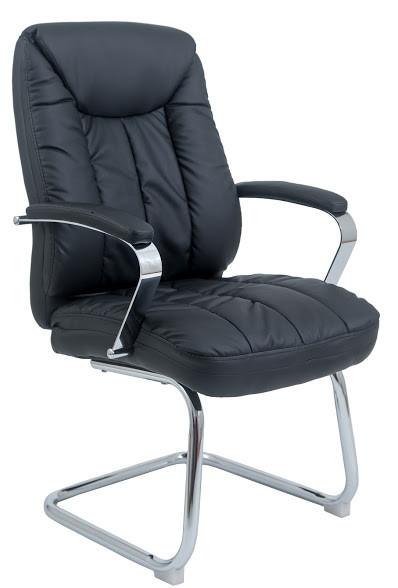 Кресло Корсика CF Хром кожзам Черный (Richman ТМ)