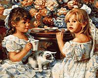 Картина раскраска по номерам VP206 Чаепитие худ Кук, Сандра (40 х 50 см) Турбо