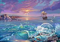 Картина раскраска по номерам VP210 Одинокий парус худ Цыганов, Виктор (40 х 50 см) Турбо