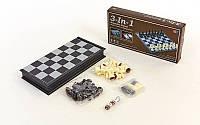 Набор (шахматы, шашки, нарды) CHE MAGNIT 32х32