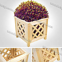 Решетчатый вазон из дерева