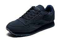 Зимние кроссовки Reebok Classic, мужские, на меху, темно-синие, р. 46