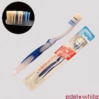 Edel+White с щетиной Pedex, отбеливающая зубная щетка средней жесткости