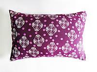 Подушка декоративная 60х40см. Цветы на фиолете.